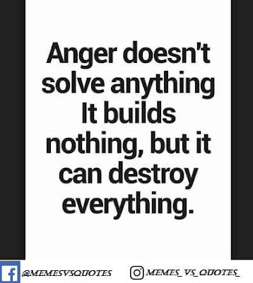 Anger Dosen't solve any thing