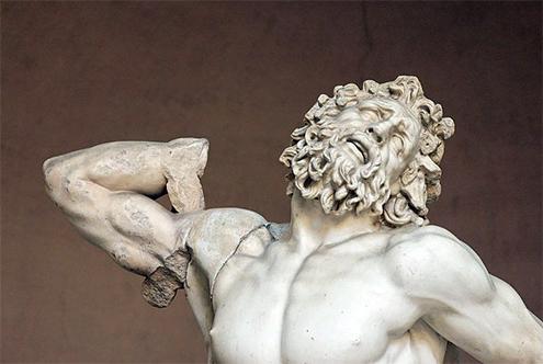 Laocoonte y sus hijos por agesandro de rodas polidoro y for Origen del marmol