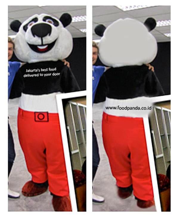 gambar desain badut panda food dari customer jakarta
