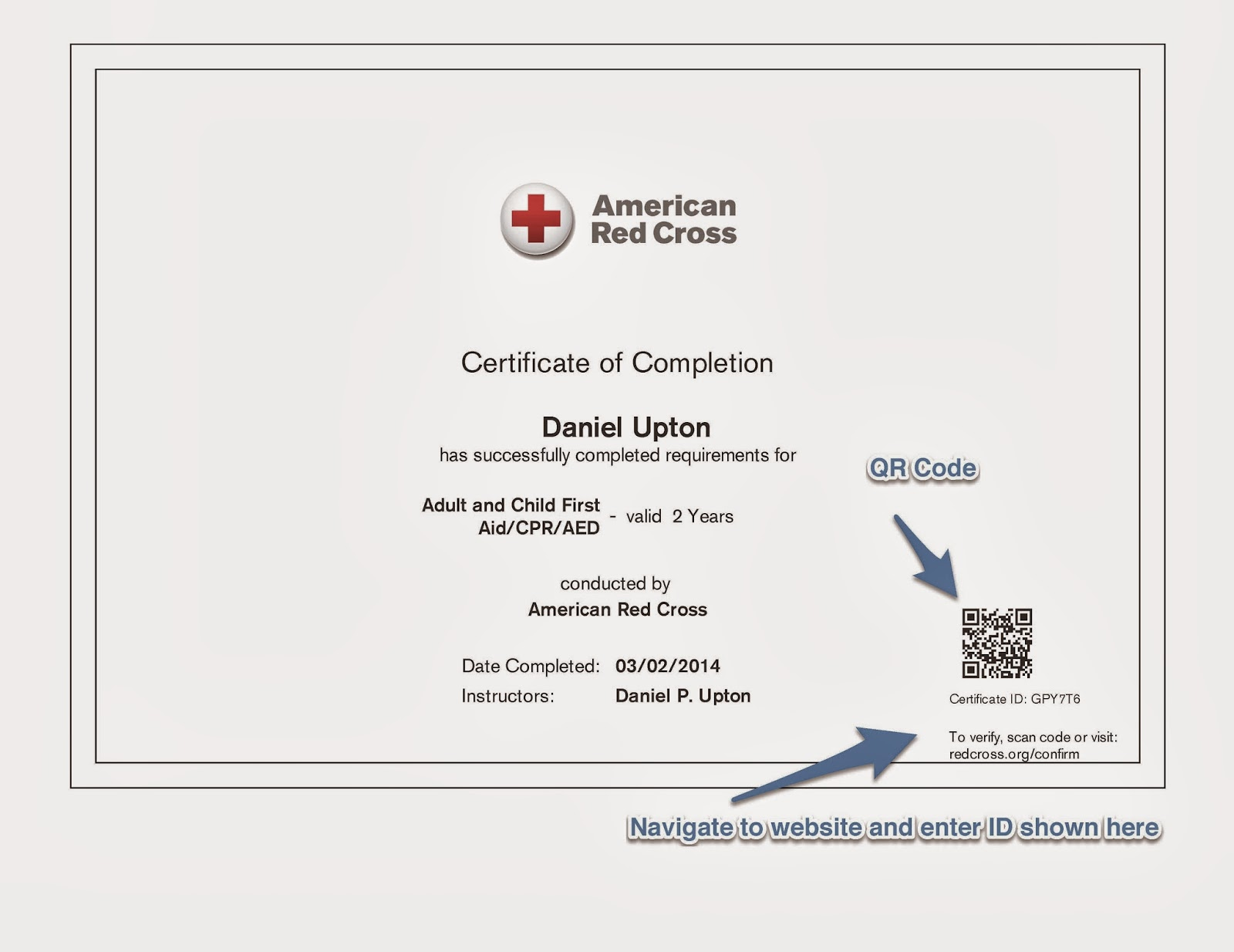 Cpr Card Template an american red cross phlebotomy certification – First Aid Certificate Template