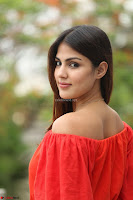 Rhea Chakraborty in Red Crop Top and Denim Shorts Spicy Pics ~  Exclusive 192.JPG