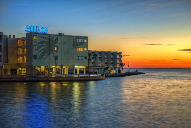Sailport Waterfront Suites, a Tampa Bay hotel and resort offering suites, extended stay rooms and beachfront views.