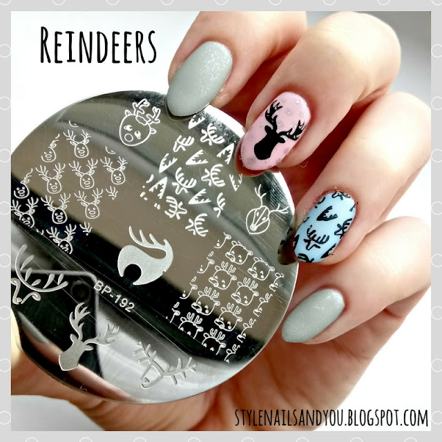 Reindeers | Born Pretty Stamping Plate BP-192 | Born Pretty Store Review