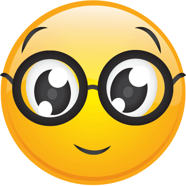 Smiley Emoticon With Glasses
