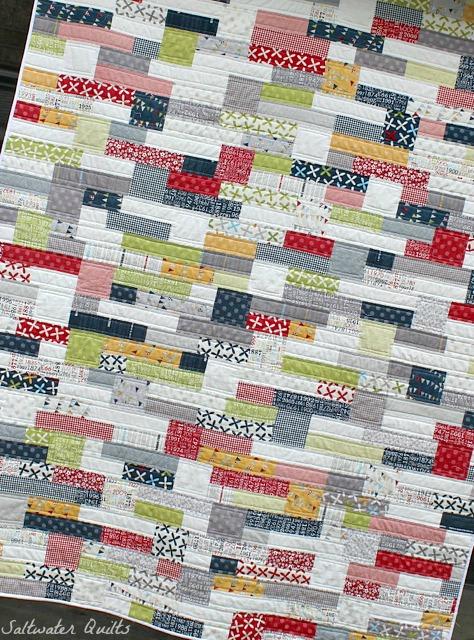 Complete Reunion Quilt | © Saltwater Quilts 2012
