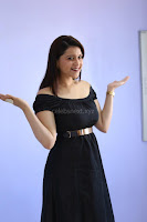 Mannara Chopra in Short Off Shoulder Black Dress ~  Exclusive 012.JPG