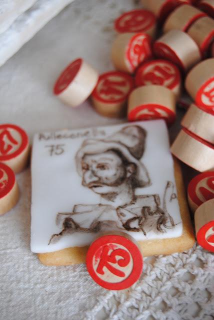 biscotti ispirati alla tombola napoletana - Pulcinella