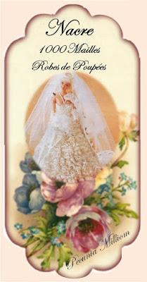 PAP vestido de noiva em crochê para Barbie