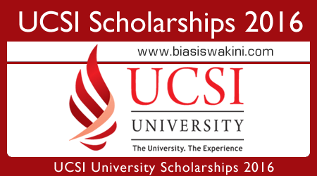 UCSI Scholarships 2016 for Malaysian Students