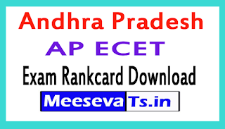 AP ECET Exam Rankcard Download 2017