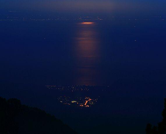 Litochoro i Zatoka Termajska widziane z masywu Olimpu