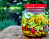 Cucumber & Pepper Refrigerator Pickles