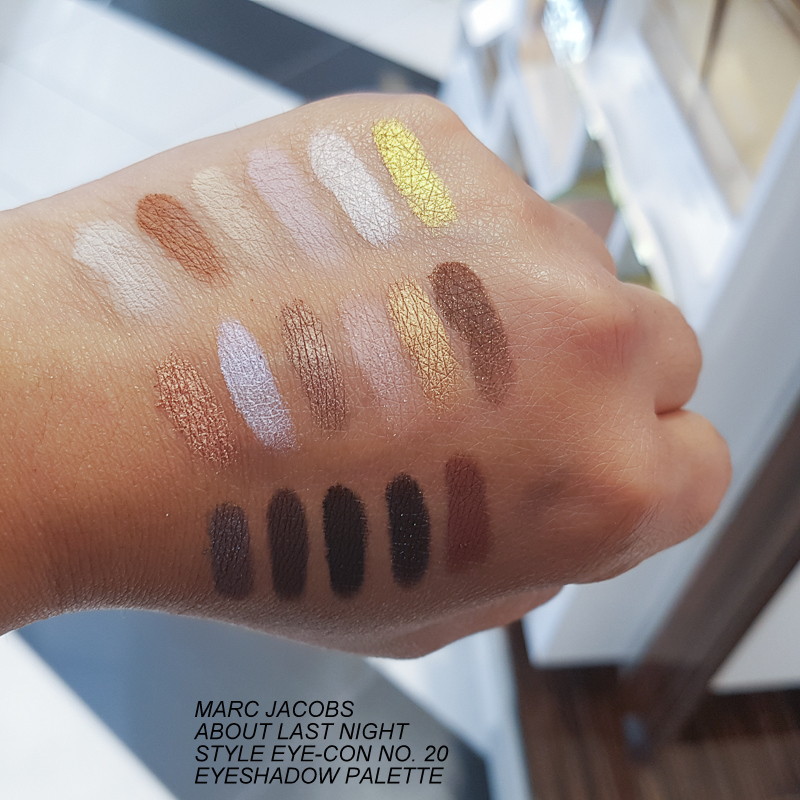Marc Jacobs About Last Night Style Eye-Con No. 20 Eyeshadow Palette - Swatches