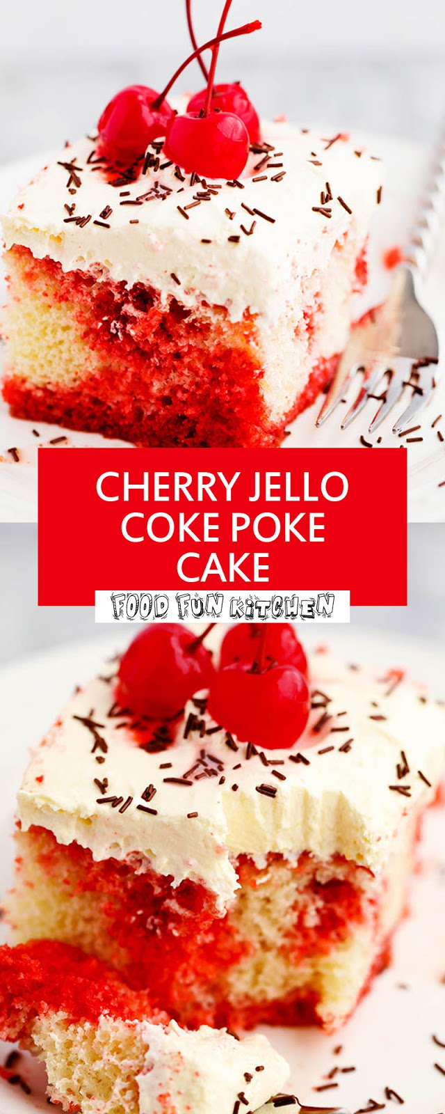 CHERRY JELLO COKE POKE CAKE
