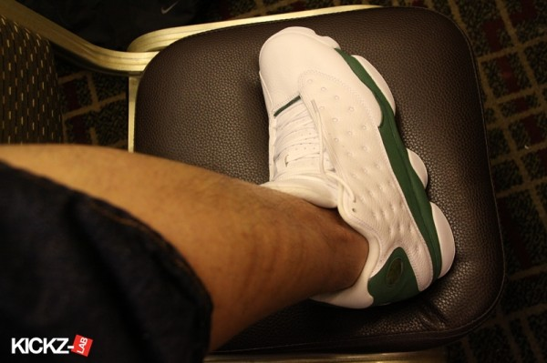 """Air Jordan 13 Ray Allen """"3 Point Record"""" PE Sneaker (New Photos). Here is  some new images of the Air Jordan 13 Ray Allen """"3 Point Record"""" PE ... bbfaa545dff1"""