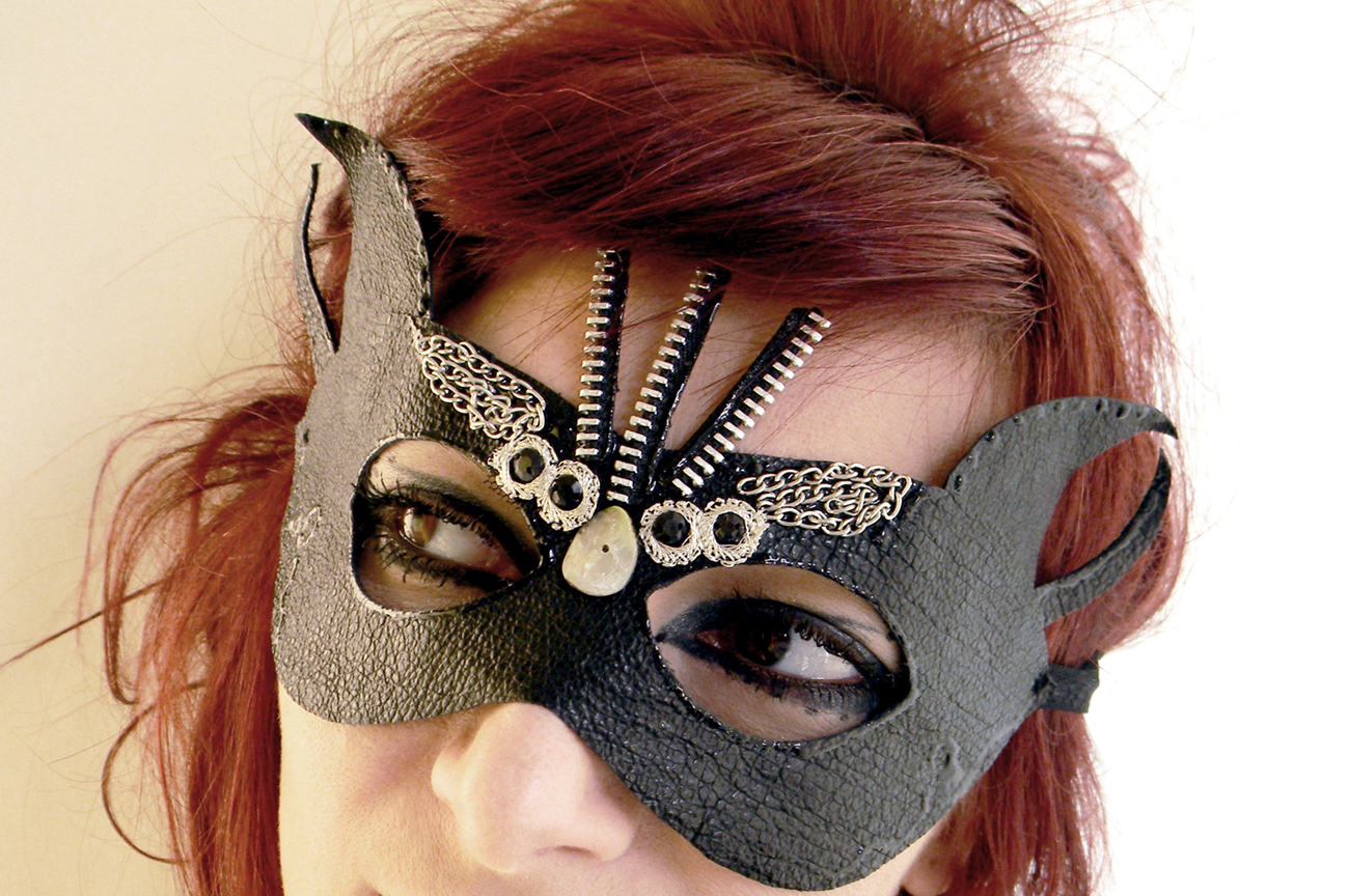 Handmade Mask Gothic Steampunk Devil Black Angel