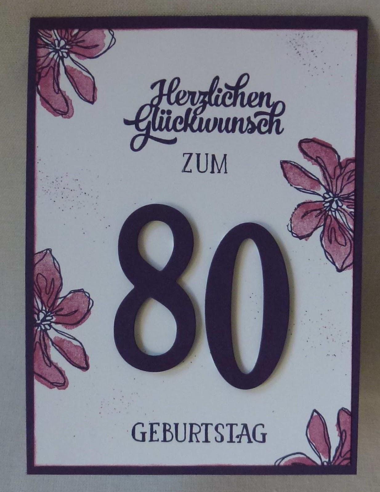 Gluckwunschkarten Zum 80 Geburtstag Selber Basteln Hylen