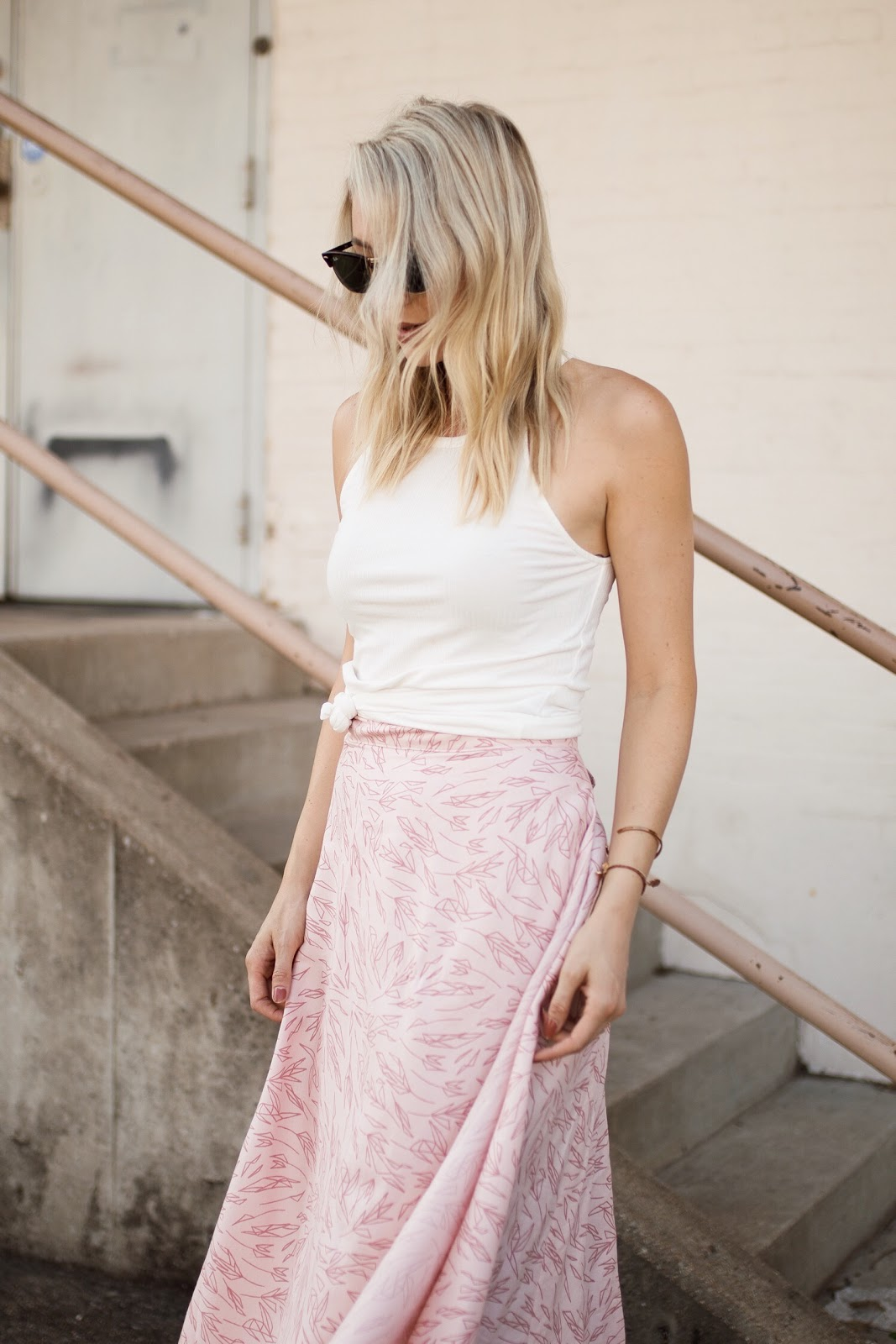 beautiful summer maxi skirt handmade by women employed by nonprofit By Grace