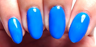Neon Blue Nails