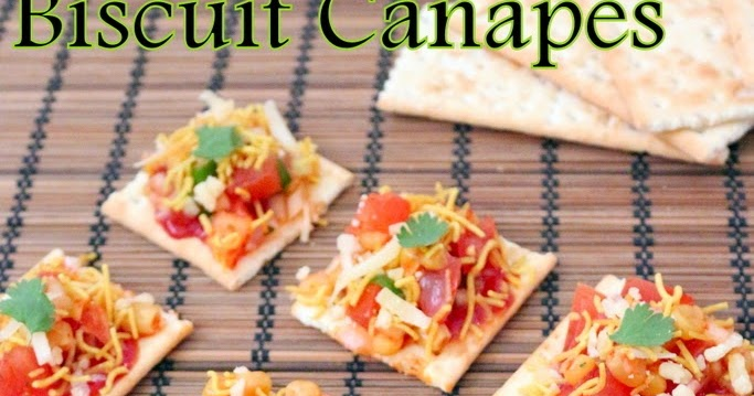 Recipe of biscuit canapes how to make biscuit canapes for Types of canape bases