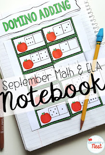 September ELA and Math interactive notebook- September Activities and primary resources plus three FREEBIES- fun ELA, math, and social studies activities for students during the month of September