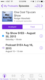 The One Cool Tip Show - www.onecooltip.com iPhone Podcast App