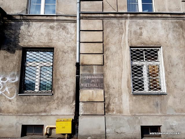 Warszawa Warsaw Ochota kamienica sprawdzono miny 1945 Wawelska