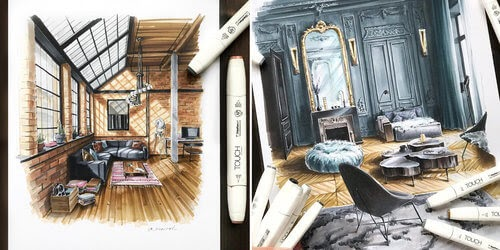 00-Ekaterina-Suricat-Interior-Design-Colored-Sketches-www-designstack-co