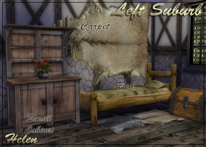 Animal Bedroom Wallpaper Sims 4 Cc S The Best Left Suburb Medieval Set 34