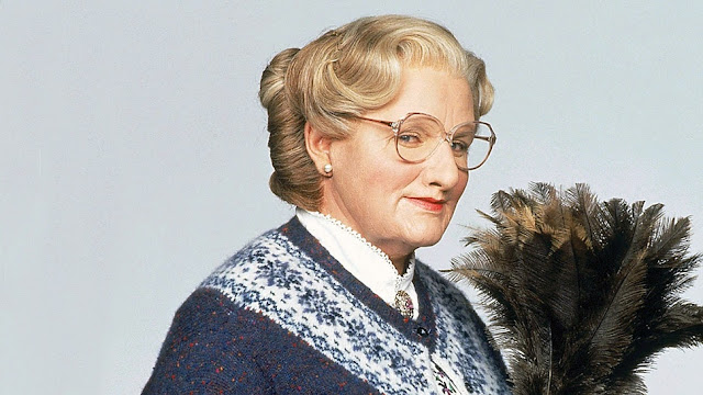 Robin Williams crossdressed in Mrs. Doubtfire