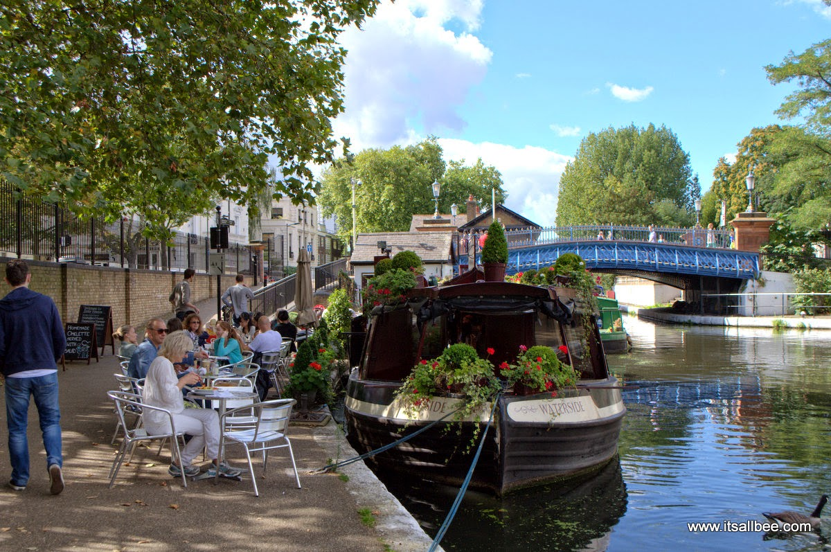 Waterside Cafe Little Venice London Warrick Avenue Paddington | Quick Guide To London's Little Venice | Canals, Boat Trips, Restaurants & Tours