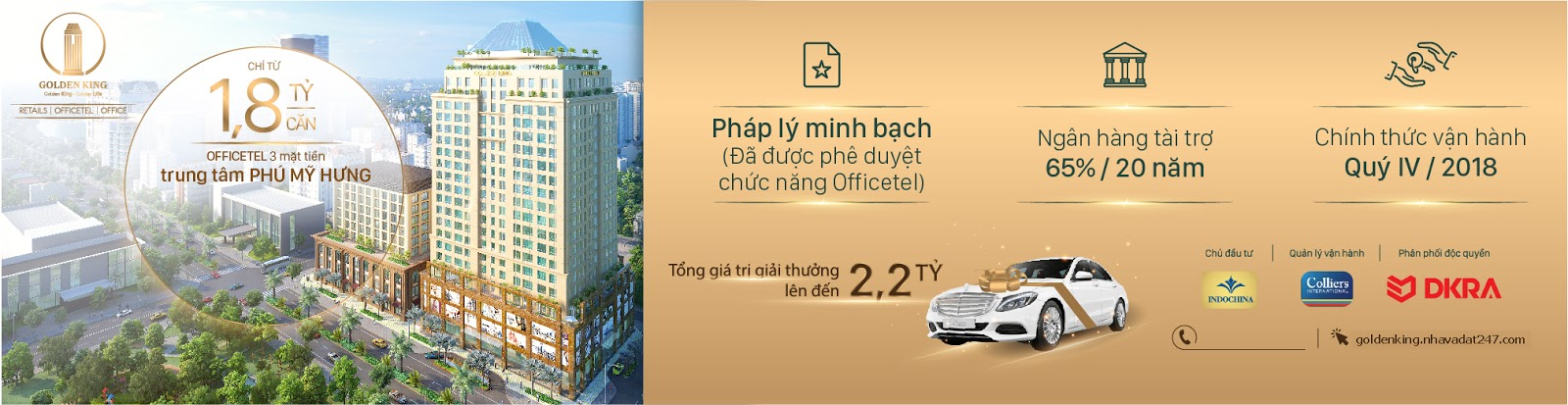 BẢNG GIÁ OFFICETEL GOLDEN KING