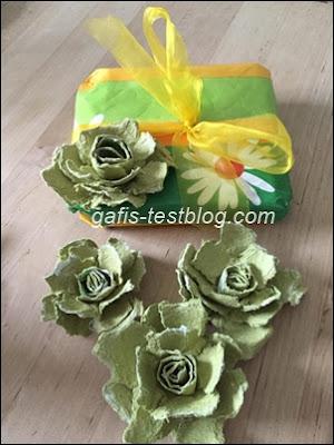 Rosen aus Eierkartons