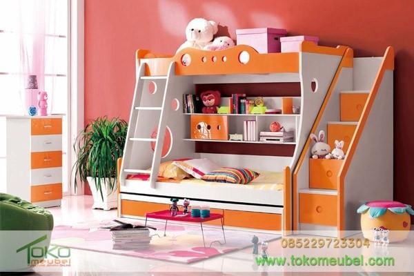 model tempat tidur anak tingkat 3