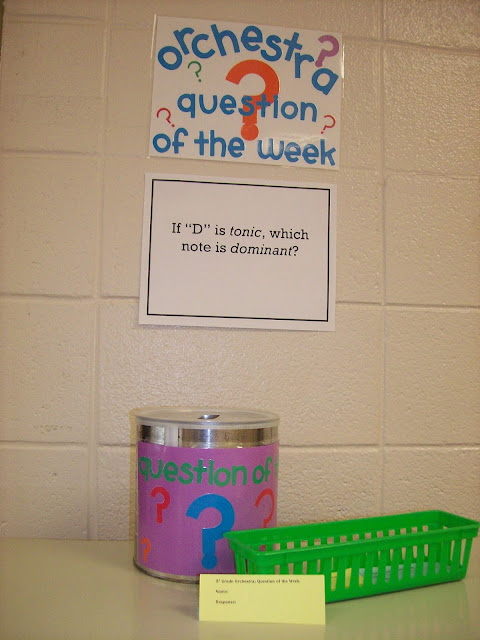 Question of the week orchestra question and response bucket