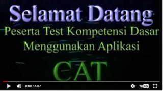 Video Cara Lulus TKD menggunakan sistem CAT