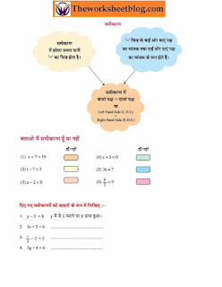 Simple Equations sample worksheets for students.
