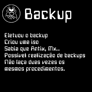 Backup isos Antix, Mx