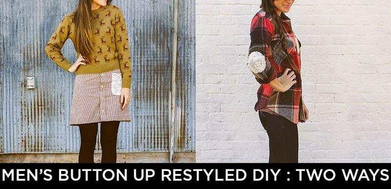 Inspiration recyclage de chemise par A Beautiful Mess