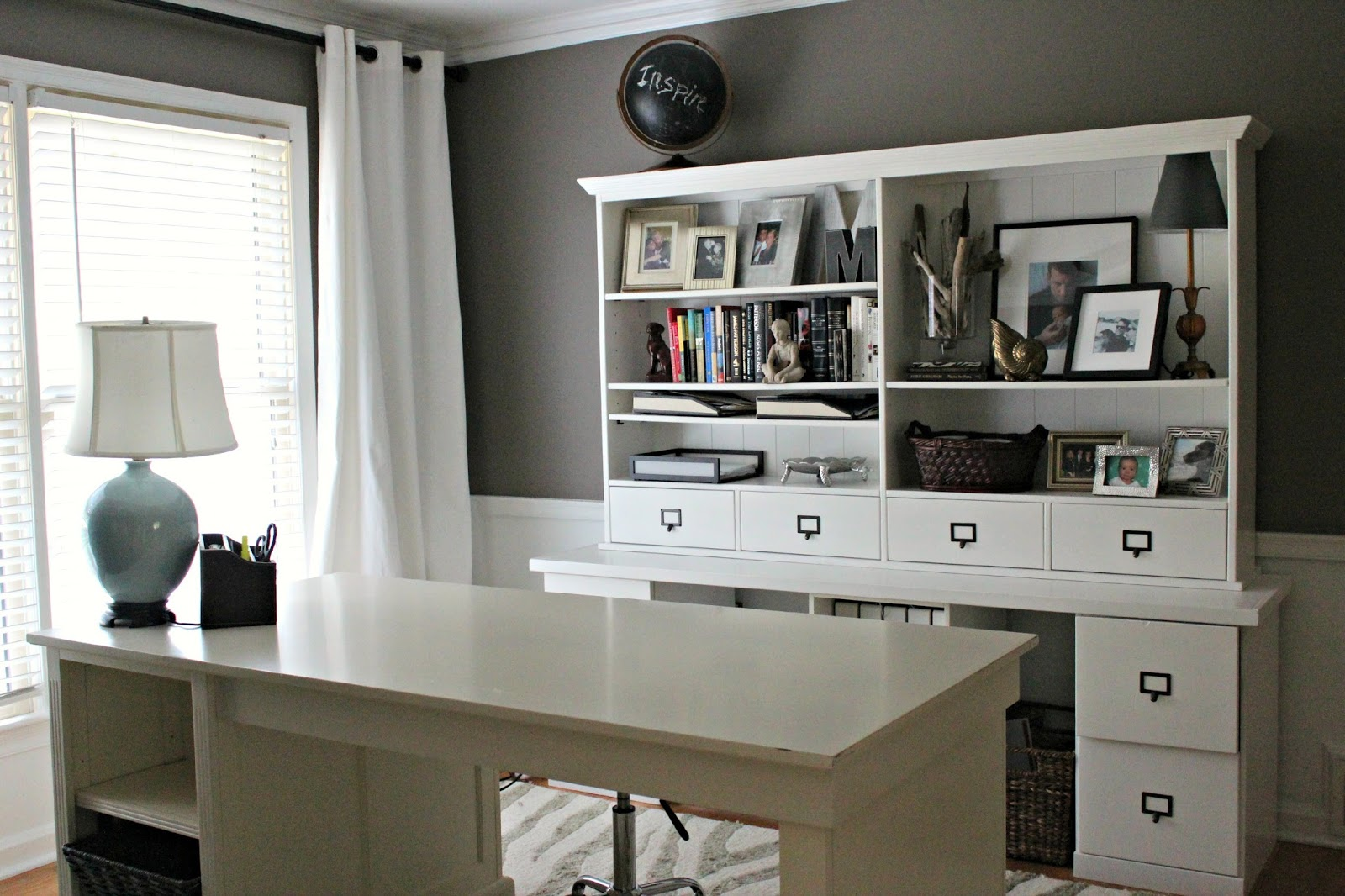Dining Room Turned Home Office Details - Southern State of ...