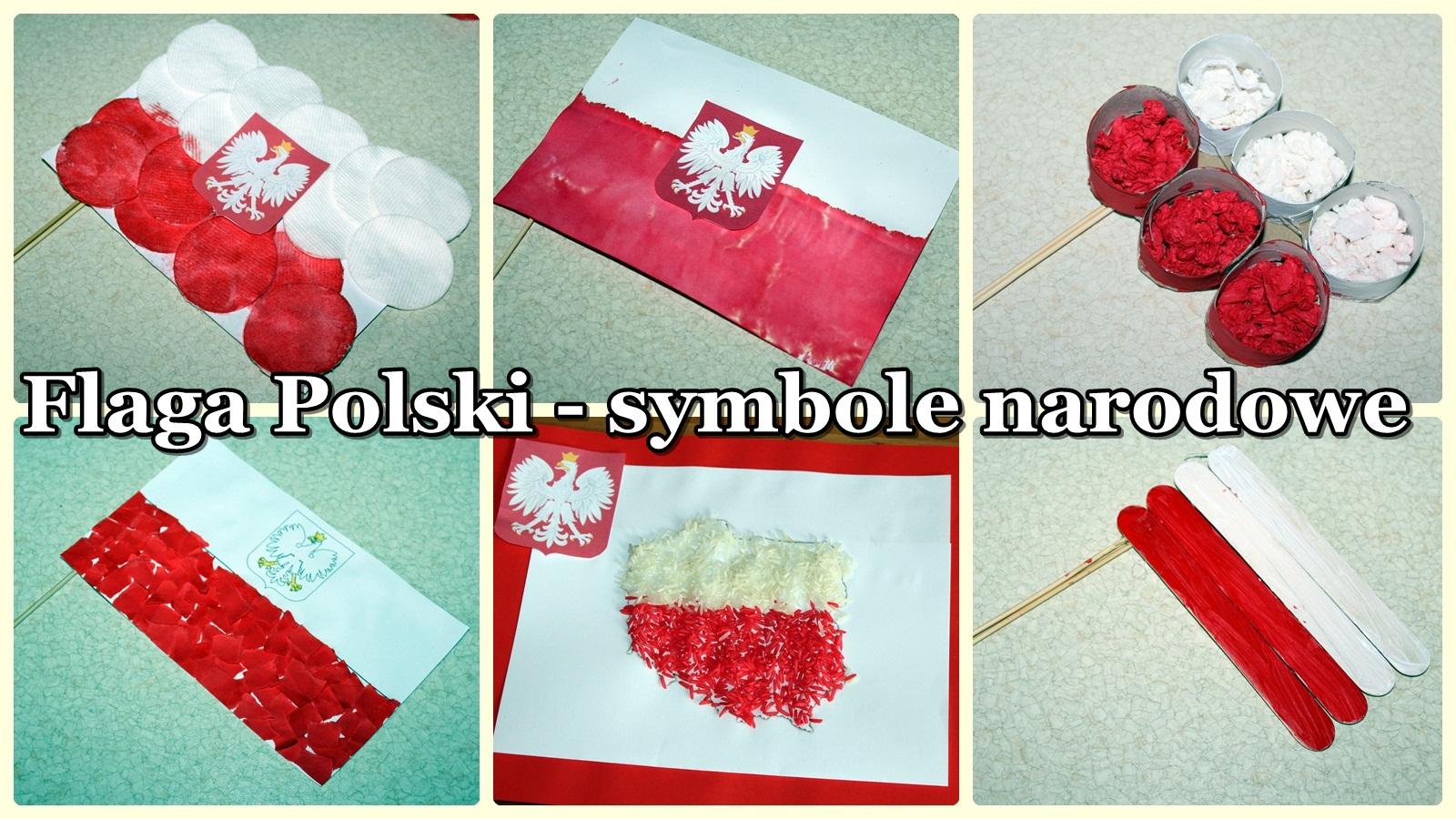 Kusiątka: Flaga polska - symbole narodowe