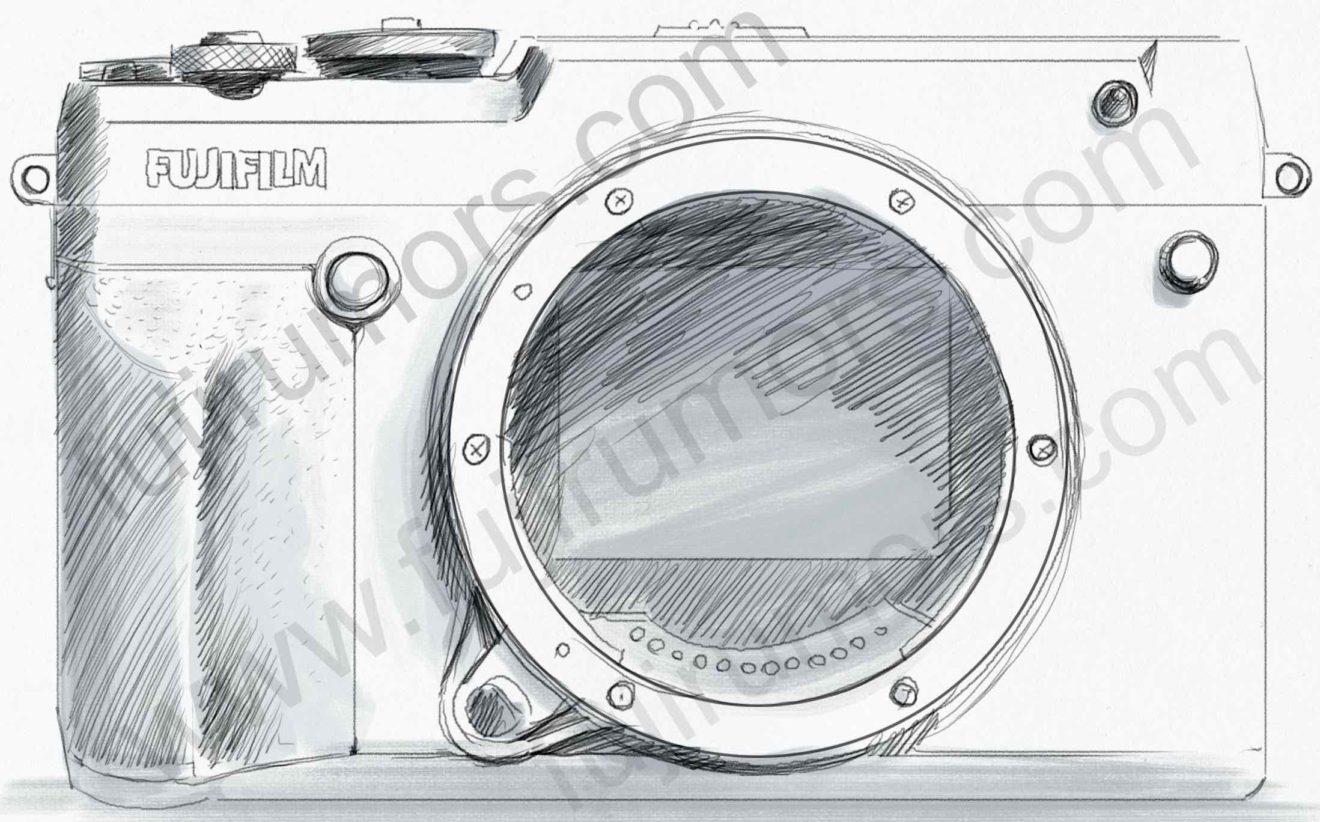 Fujifilm GFX 50R, вид спереди