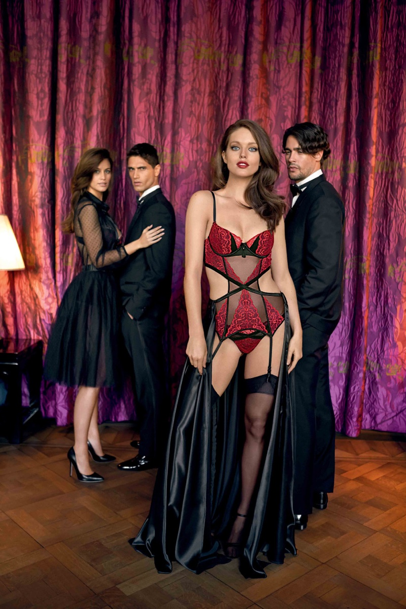Emily DiDonato wears Yamamay Pure Temptation Parisian padded basque
