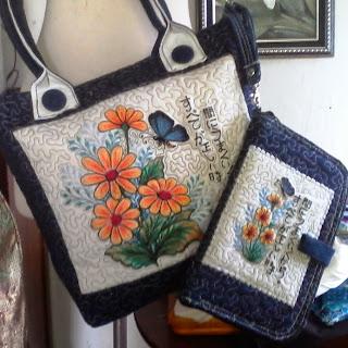 chrysant embroidery bag