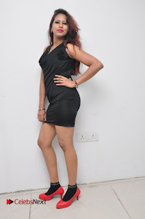 Model Sonia Pictures in Black Dress at Yes Mart Event  0031