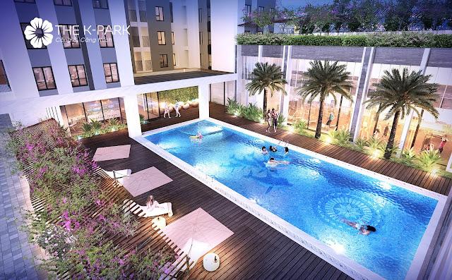 Bể bơi chung cư The K-Park Văn Phú