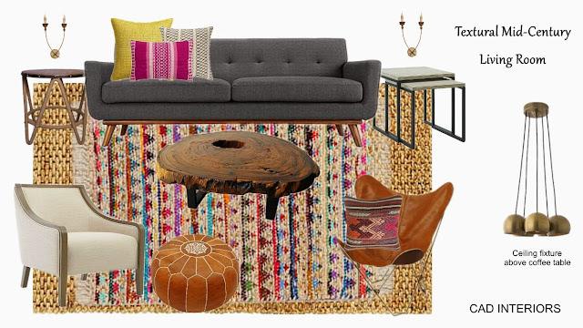 modern vintage boho chic design edesign interior design