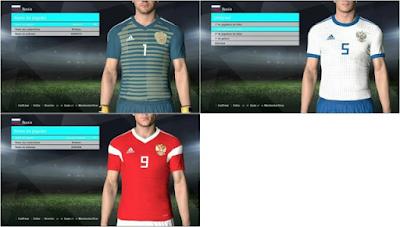 PES 2017 Russia World Cup 2018 Kits mod