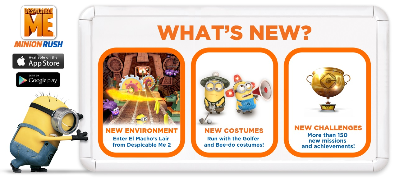 Despicable Me: Minion Rush New Game Features