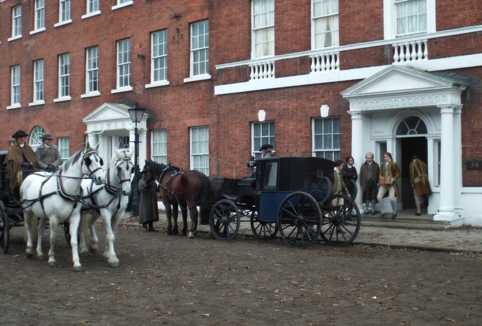 The filming of Jonathan Strange and Mr Norrell